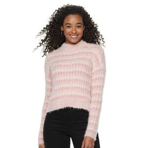 Oversized Candies Pink Fuzzy Sweater💓